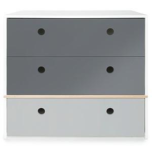 Cómoda COLORFLEX cajones frontales space grey-space grey-pearl grey