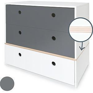 Cómoda COLORFLEX cajones frontales space grey-space grey-white