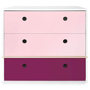 Cómoda COLORFLEX cajones frontales sweet pink-sweet pink-plum