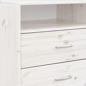 Cómoda infantil 1 estante 2 cajones NEW CLASSIC Flexa blanco cal - blanco cal - blanco