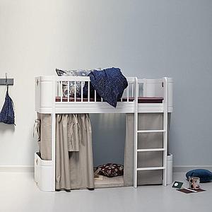 Cortina cama WOOD MINI+ Oliver Furniture rosa