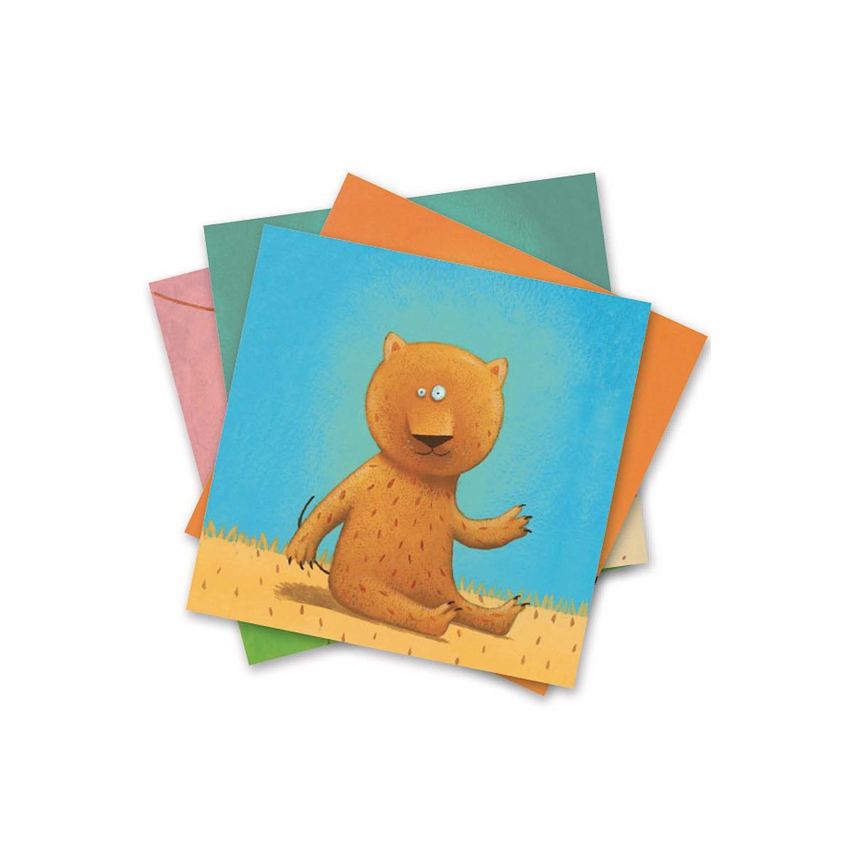 Crear con pegatinas pequeños regalos 3-6Y ANIMALES Djeco