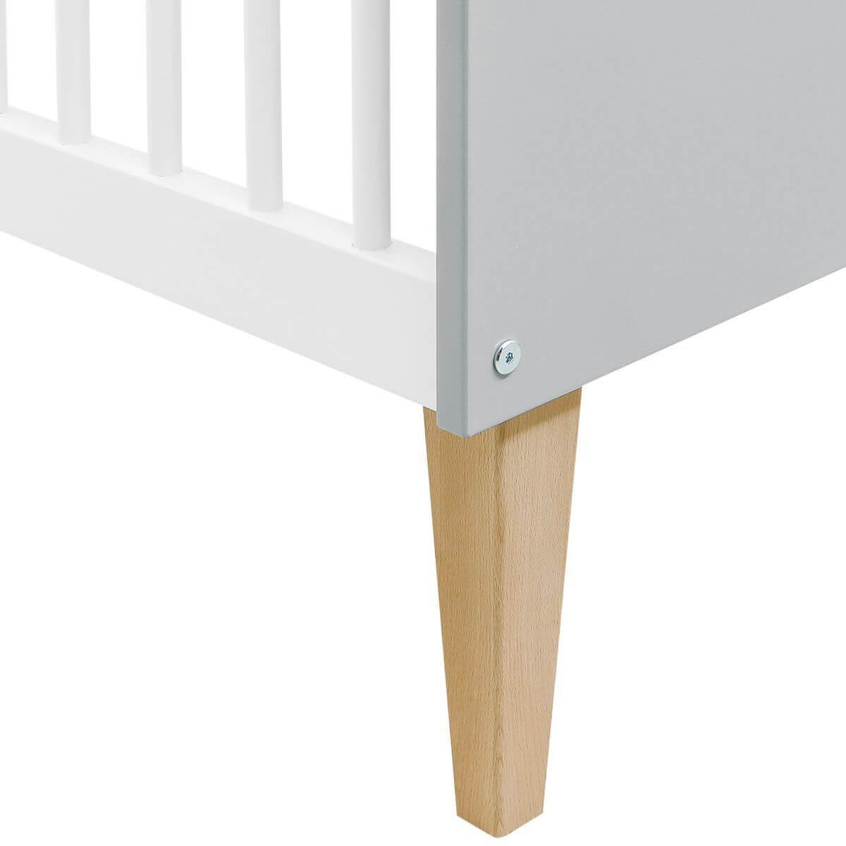 Cuna 60x120cm EMMA Bopita blanco-gris