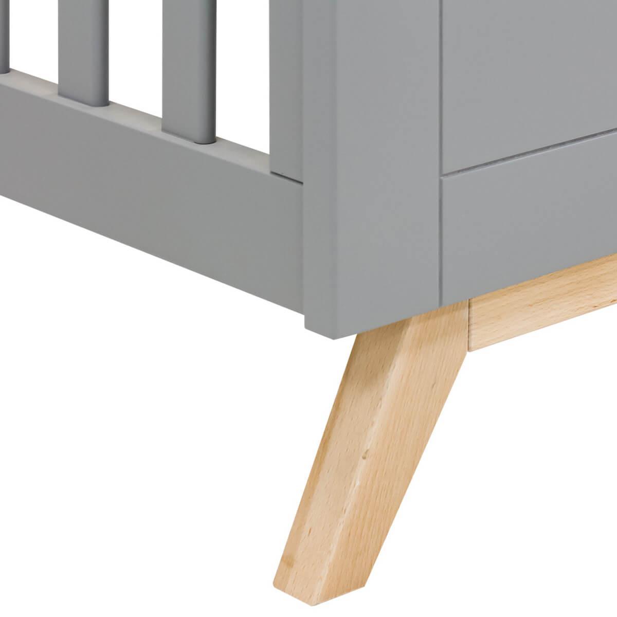 Cuna 60x120cm FENNA Bopita gris-natural