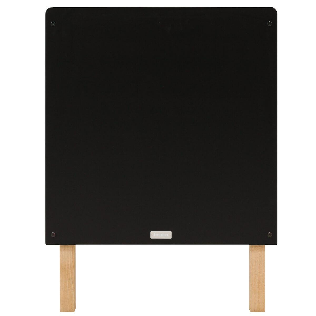 Cuna 60x120cm FLORIS Bopita negro mate-natural