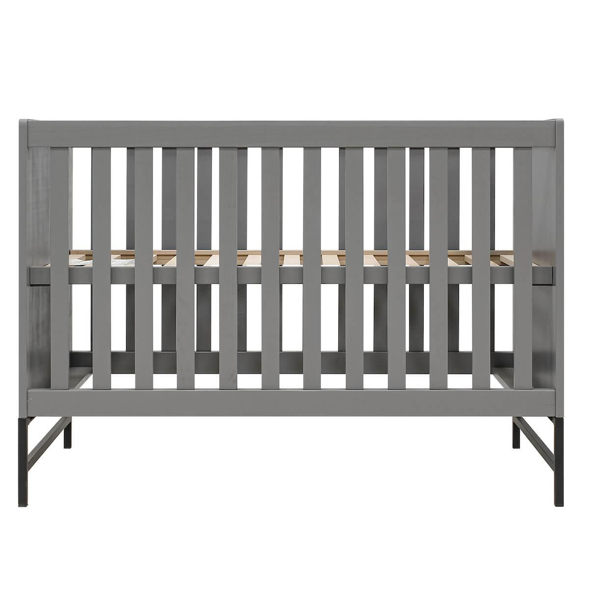 Cuna 60x120cm MILO Bopita Steel grey