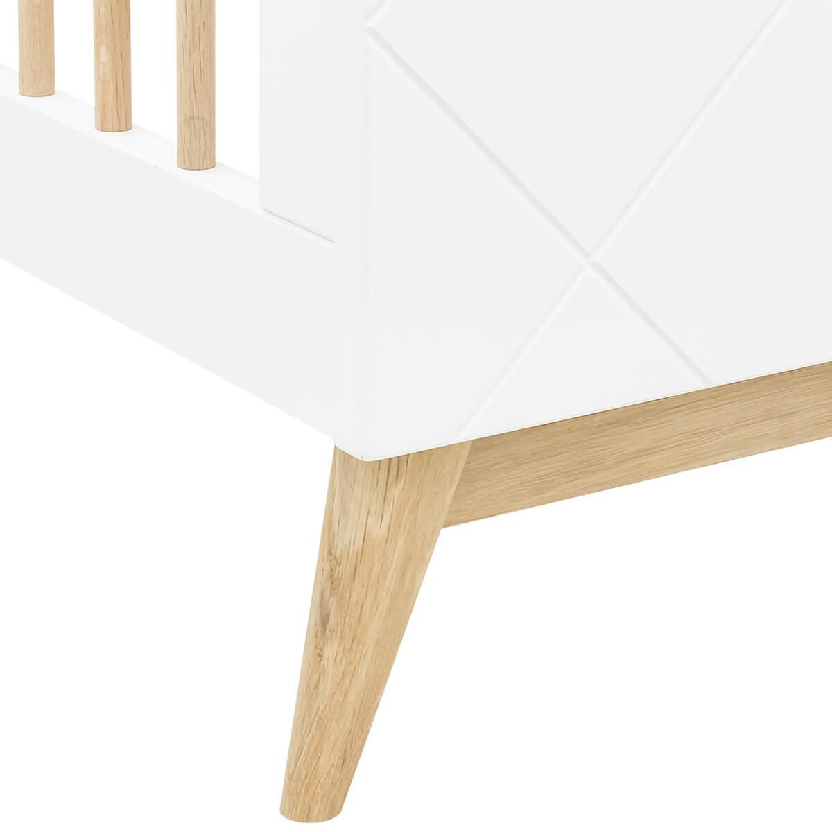 Cuna 60x120cm PARIS Bopita blanco-roble
