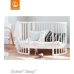 Cuna bebé 120cm SLEEPI Stokke gris bruma