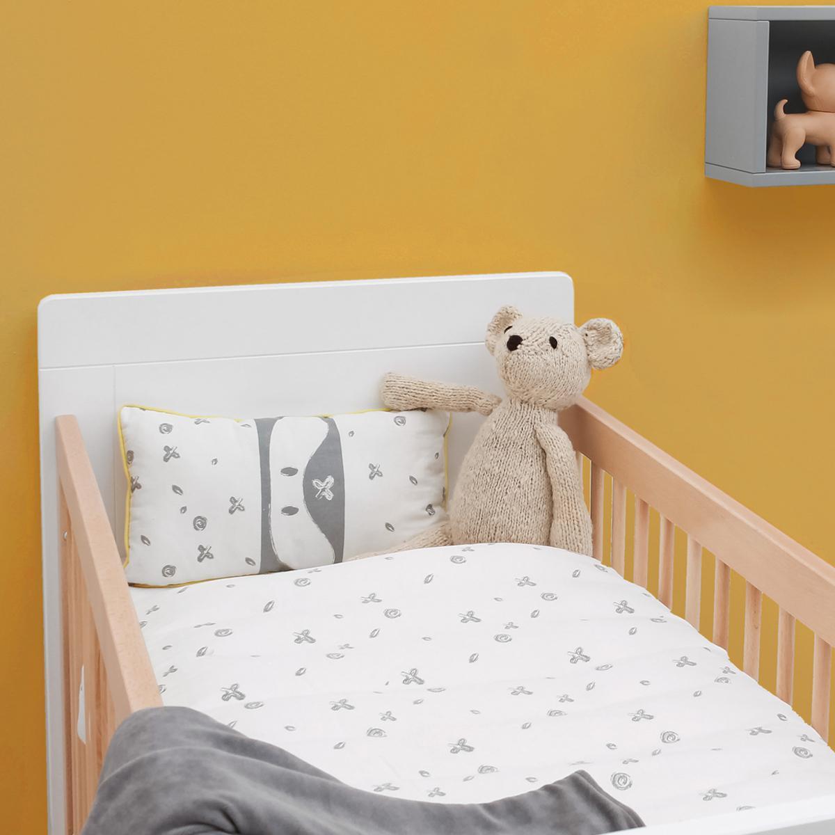 Cuna bebé 60x120cm LISA Bopita blanco-natural
