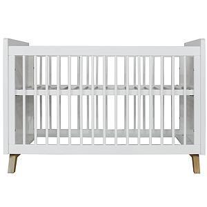 Cuna bebé 60x120cm LYNN BOPITA blanco / natural