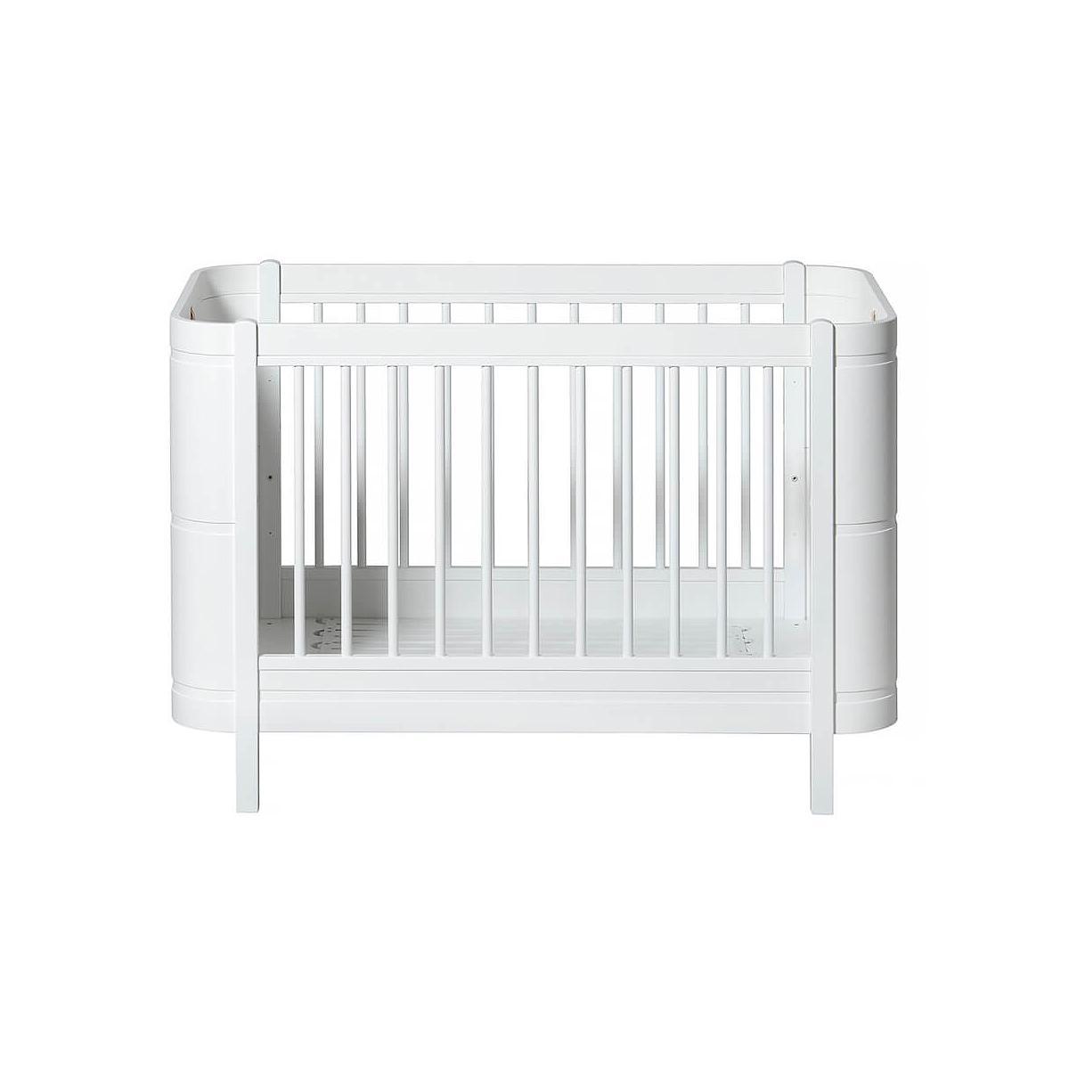 Cuna bebé evolutiva 68x122cm/162cm MINI+ WOOD Oliver Furniture blanco
