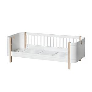 Cuna bebé evolutiva 68x122cm/162cm WOOD MINI+ Oliver Furniture blanco-roble