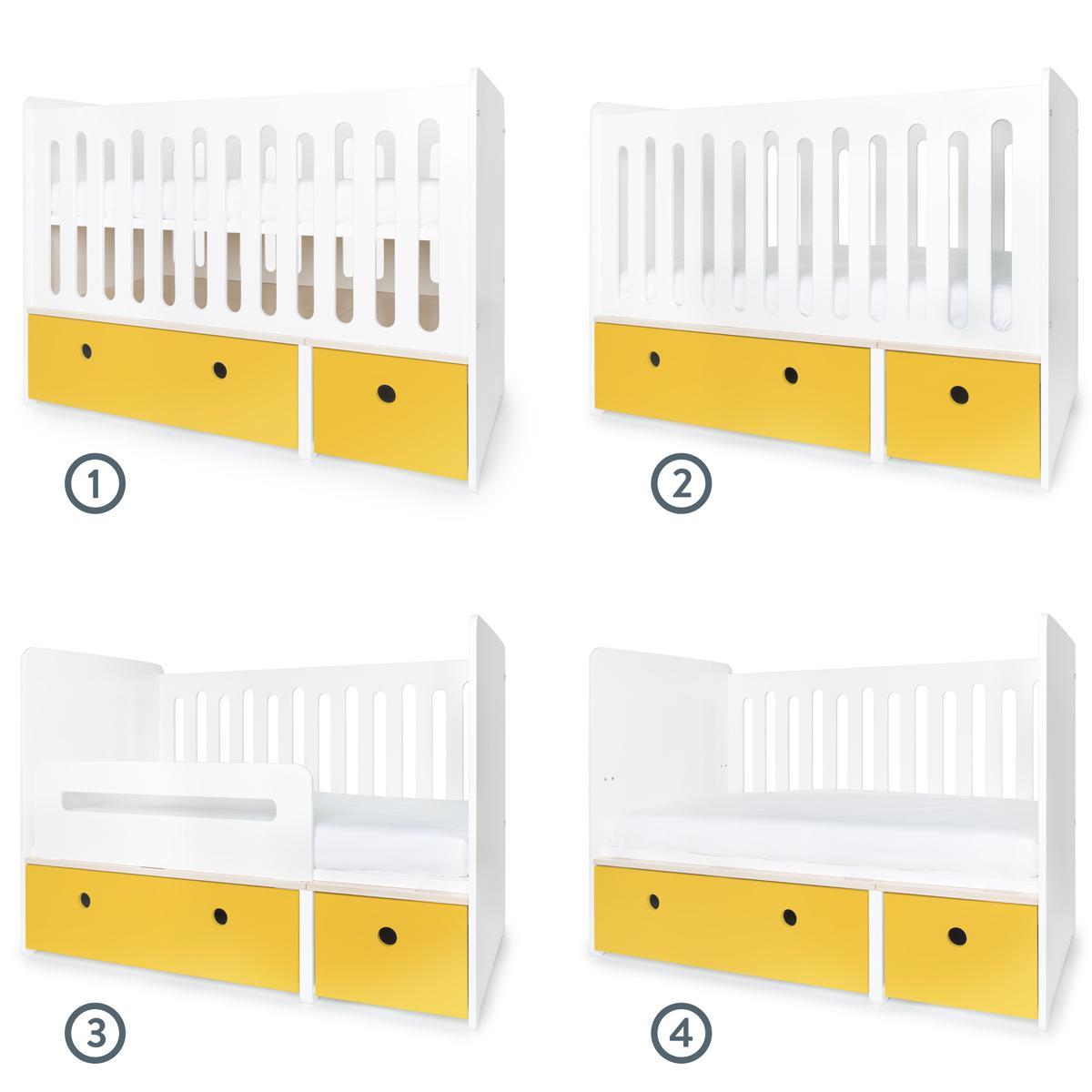Cuna cama 70x140cm COLORFLEX Abitare Kids nectar yellow