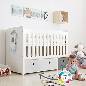 Cuna cama 70x140cm COLORFLEX Abitare Kids space grey