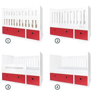Cuna cama 70x140cm COLORFLEX Abitare Kids true red