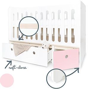 Cuna cama 70x140cm COLORFLEX Abitare Kids white-sweet pink