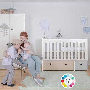 Cuna cama 70x140cm COLORFLEX Abitare Kids white wash-white