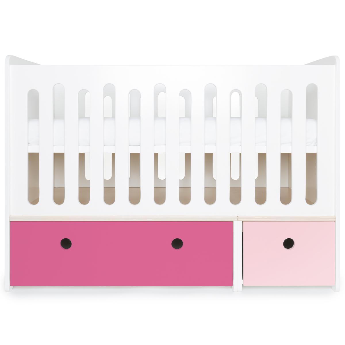 Cuna cama 70x140cm COLORFLEX pink-sweet pink