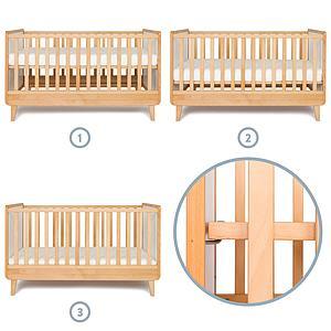 Cuna cama evolutiva 75x145cm NADO By A.K.
