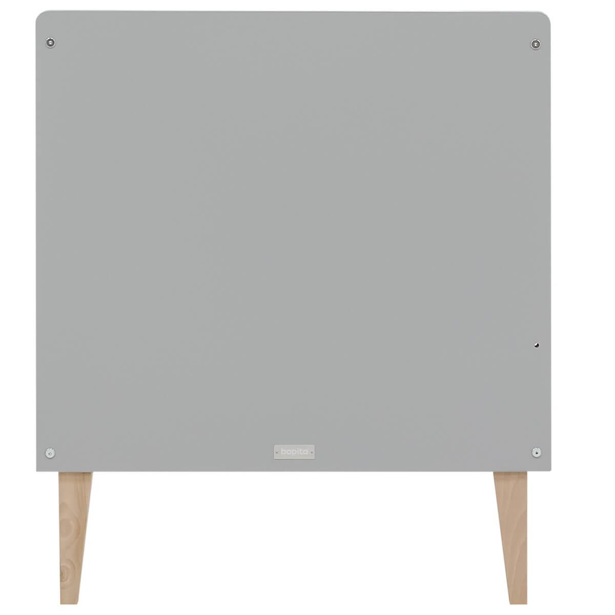 Cuna evolutiva 70x140cm EMMA Bopita blanco-gris