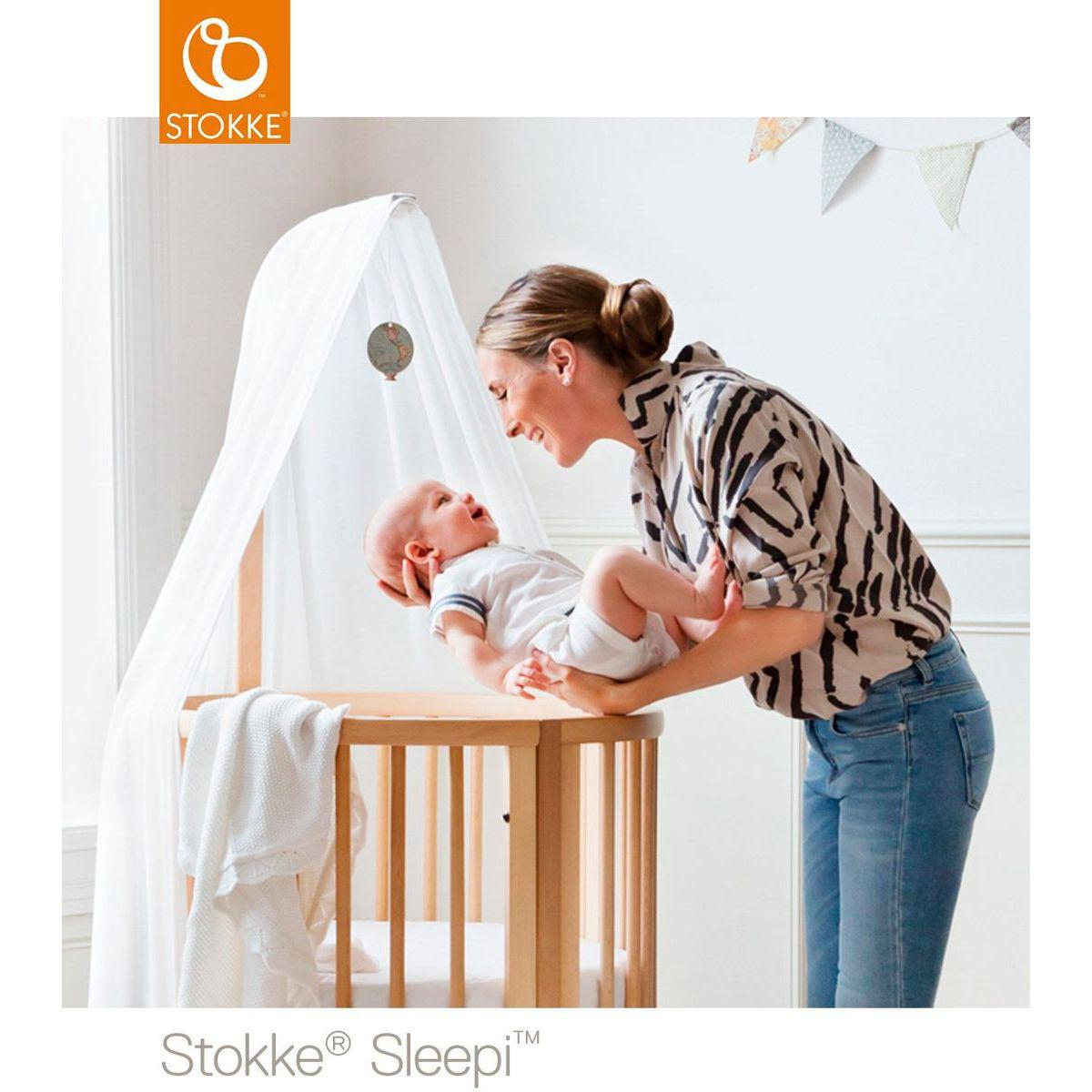 Dosel Mini cuna y Cuna bebé SLEEPI STOKKE blanco