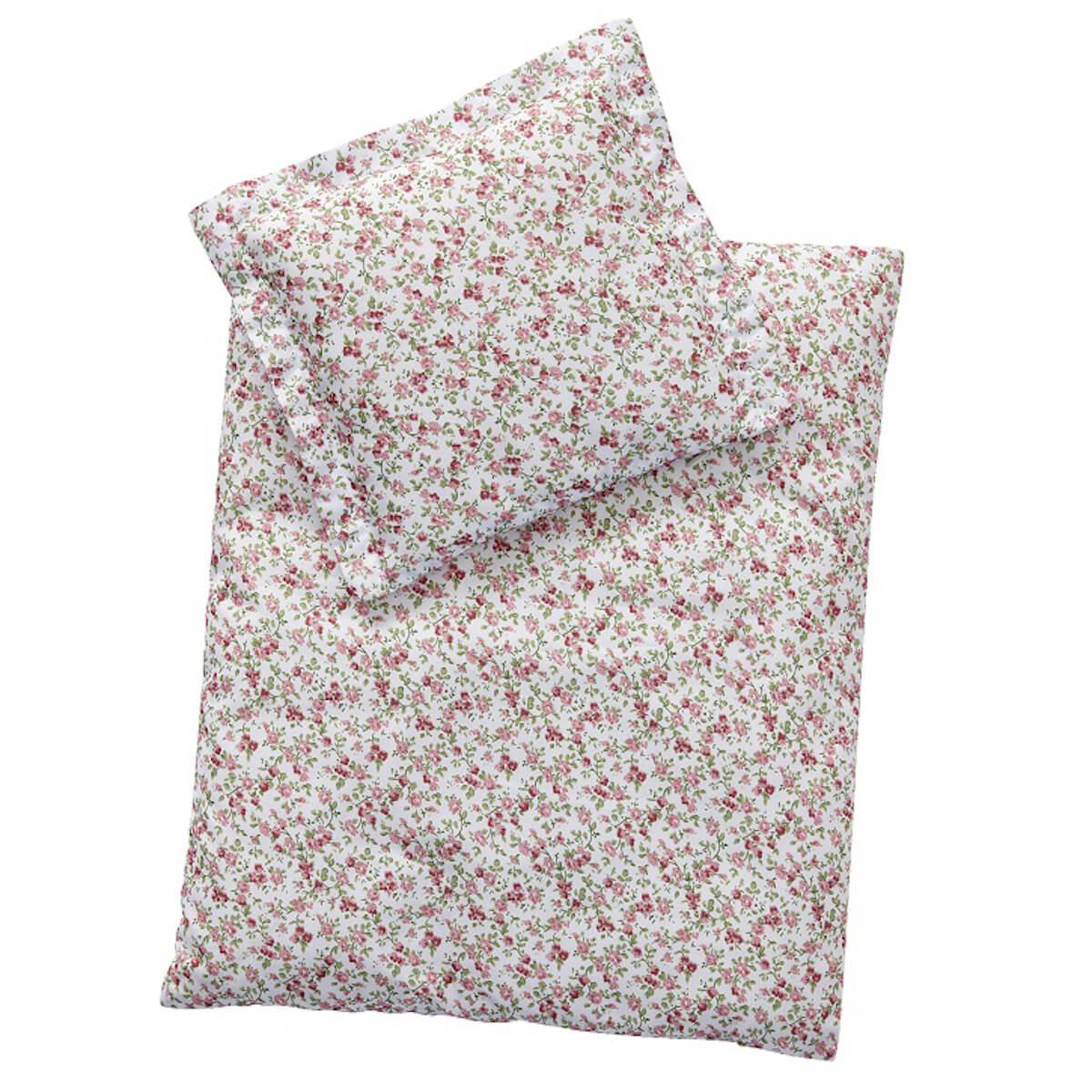 Edredón-almohada cama muñecas 44x37cm Astrup Dusty rose