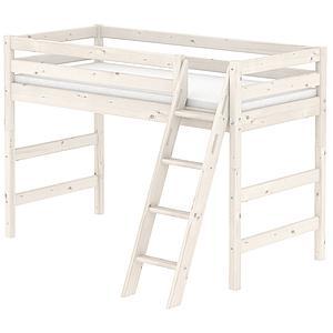 Escalera inclinada Cama semialta CLASSIC Flexa blanco cal