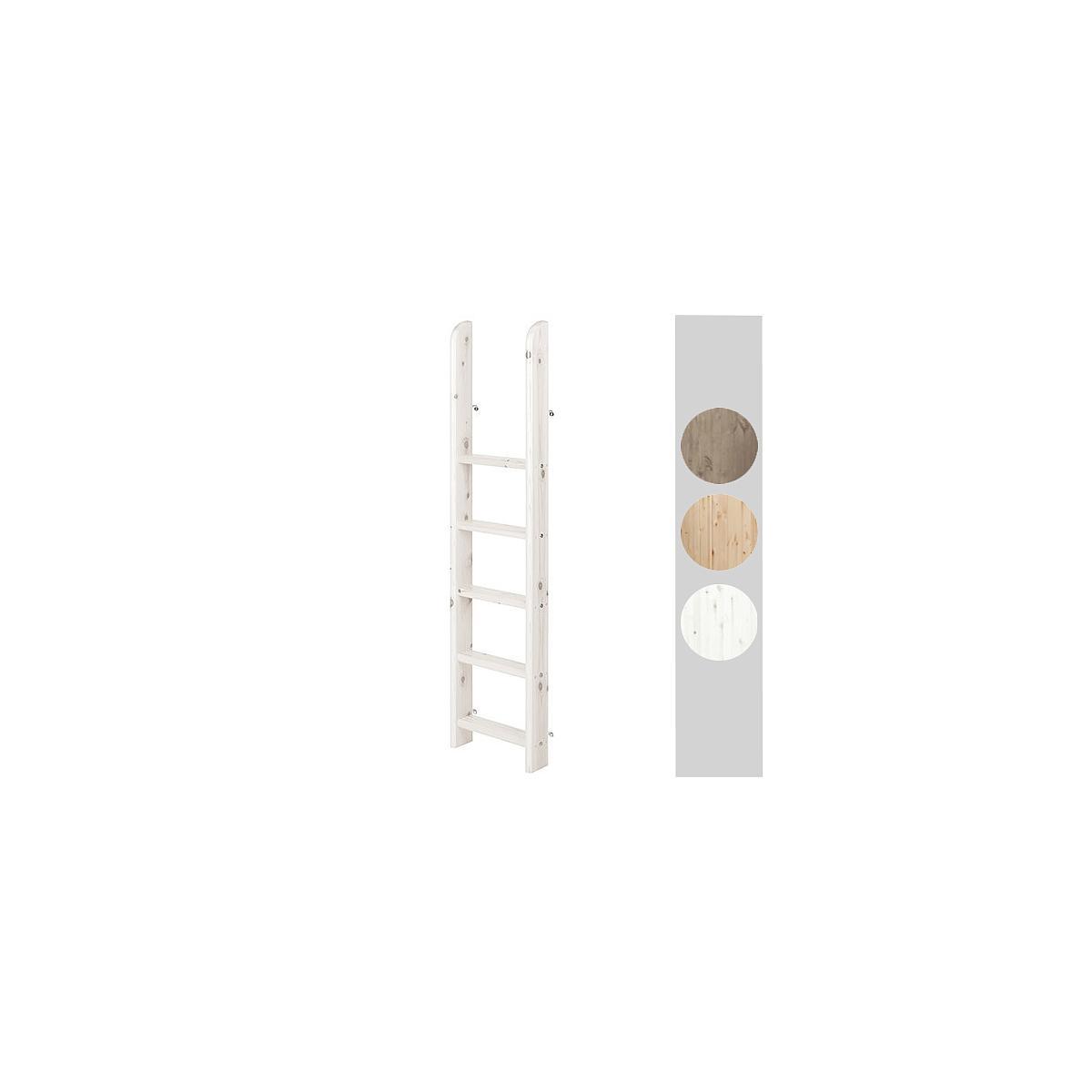 Escalera recta Cama alta CLASSIC Flexa blanco cal