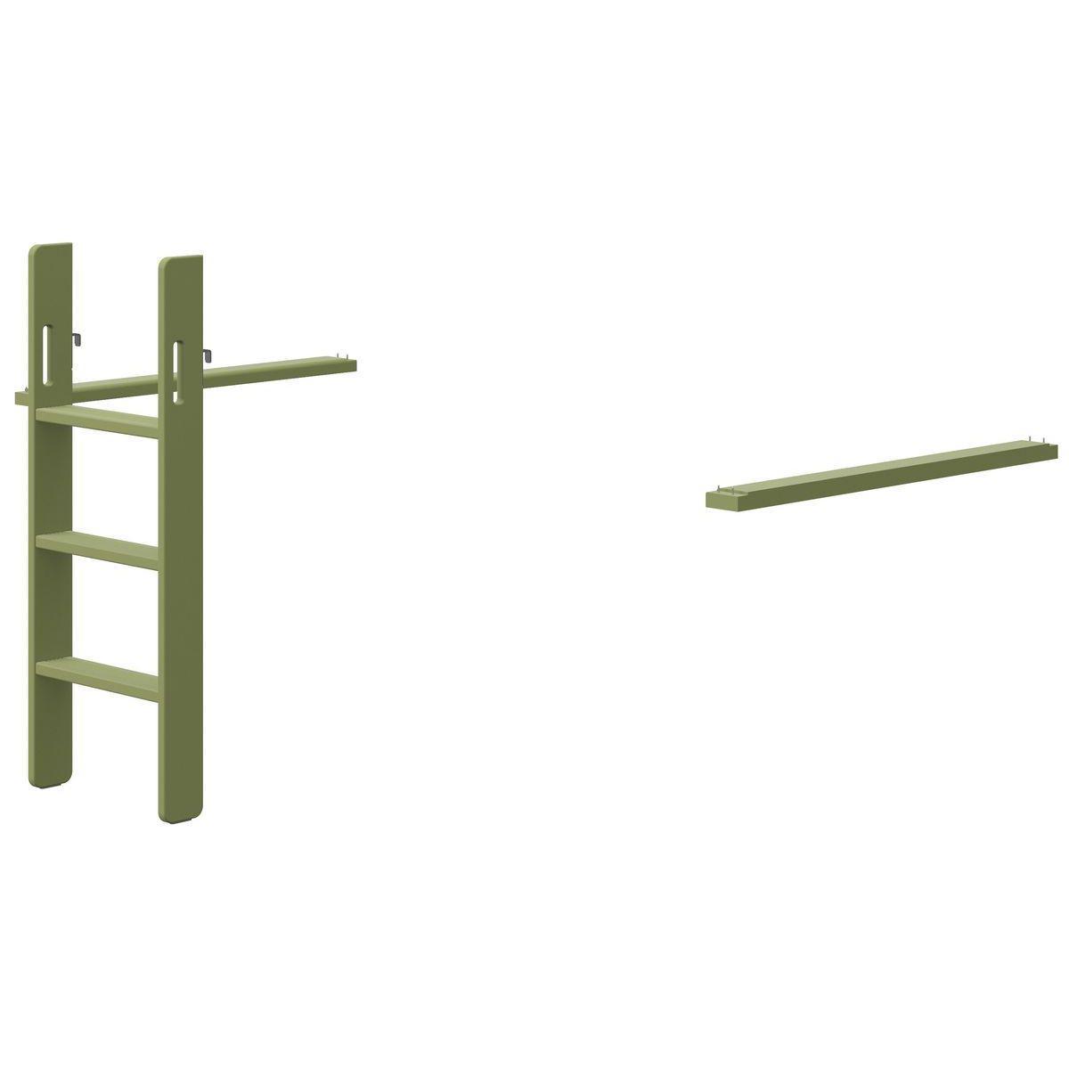 Escalera recta cama media alta POPSICLE Flexa kiwi