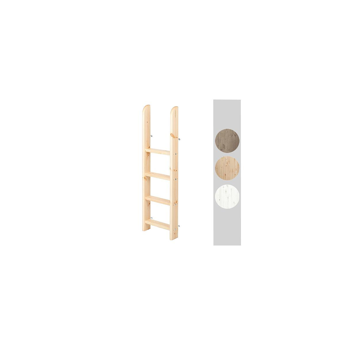 Escalera recta Cama semi alta CLASSIC Flexa blanco cal