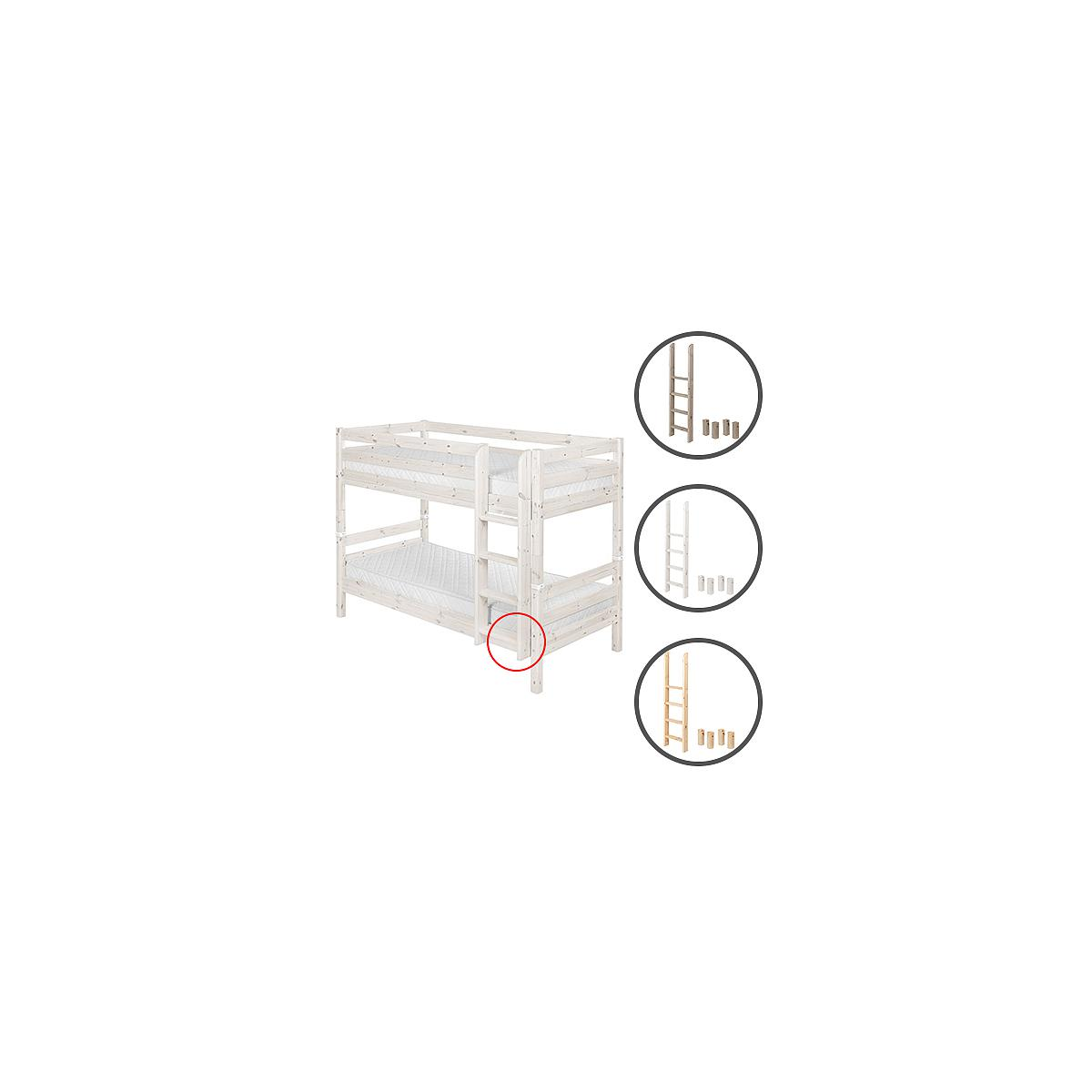 Escalera recta y patas Litera CLASSIC Flexa blanco cal