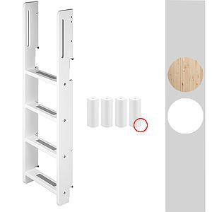 Escalera y unión Litera WHITE Flexa escalera y patas blancas
