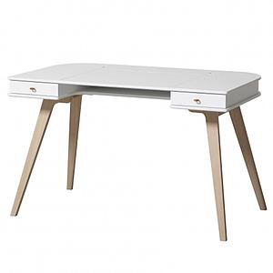 Escritorio 72,6cm WOOD Oliver Furniture blanco-roble