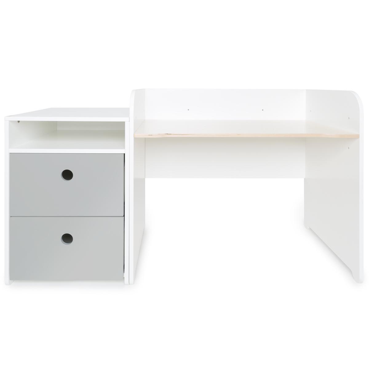 Escritorio evolutivo-mueble pequeño 2 cajones COLORFLEX Abitare Kids pearl grey