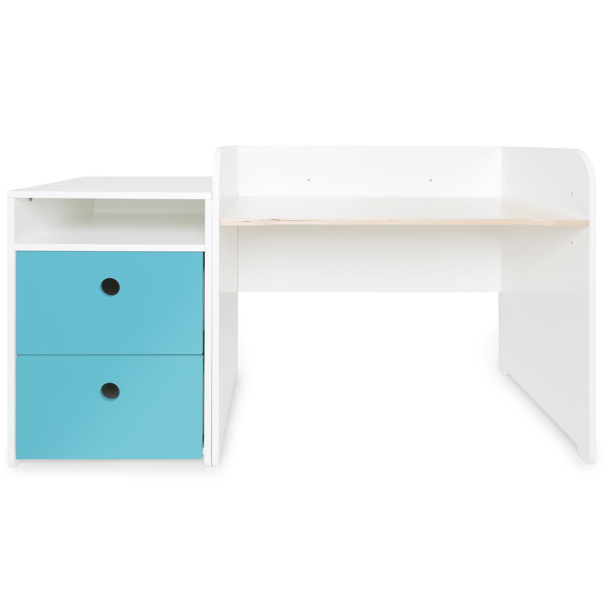 Escritorio evolutivo-mueble pequeño COLORFLEX Abitare Kids cajones paradise blue