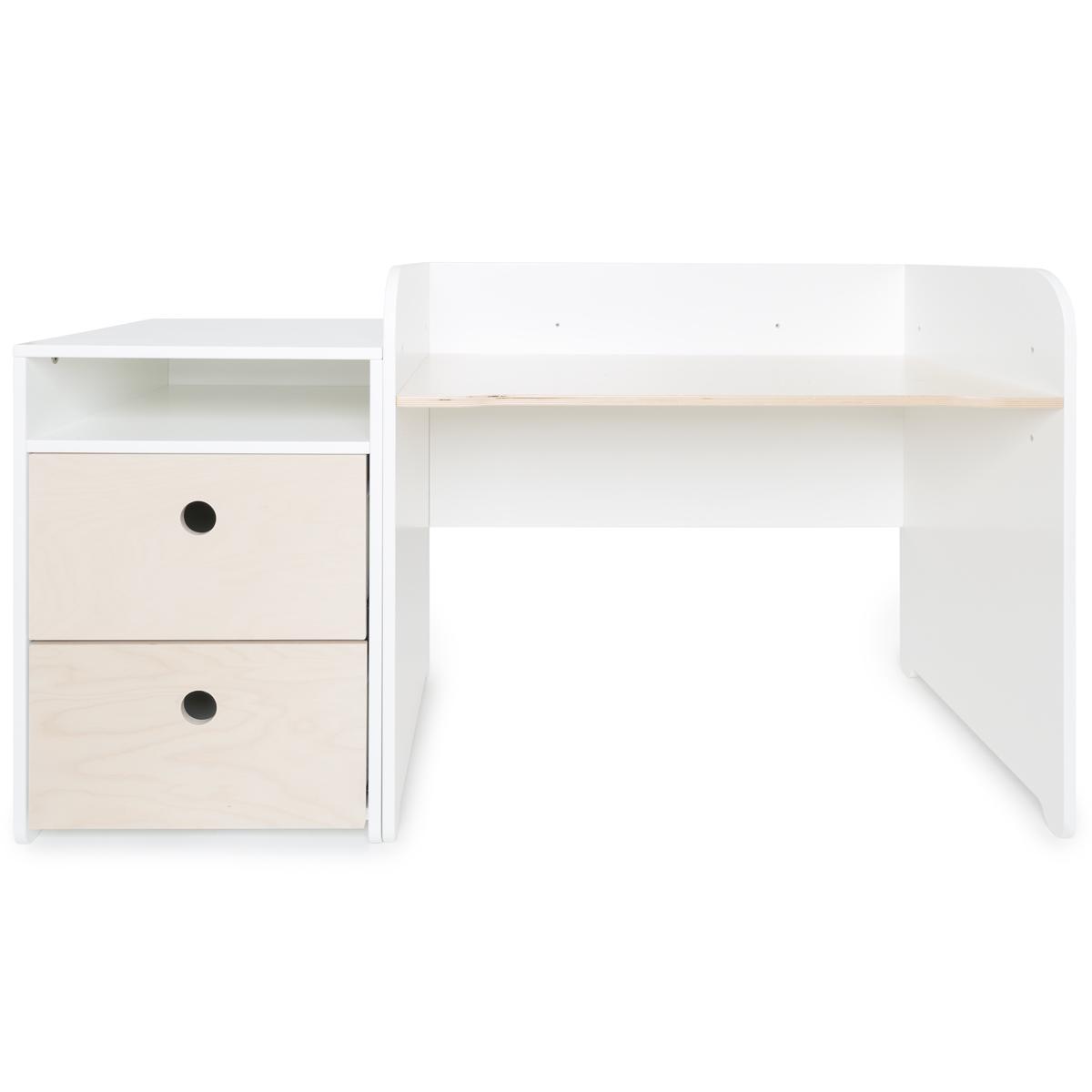 Escritorio evolutivo-mueble pequeño COLORFLEX Abitare Kids cajones white wash