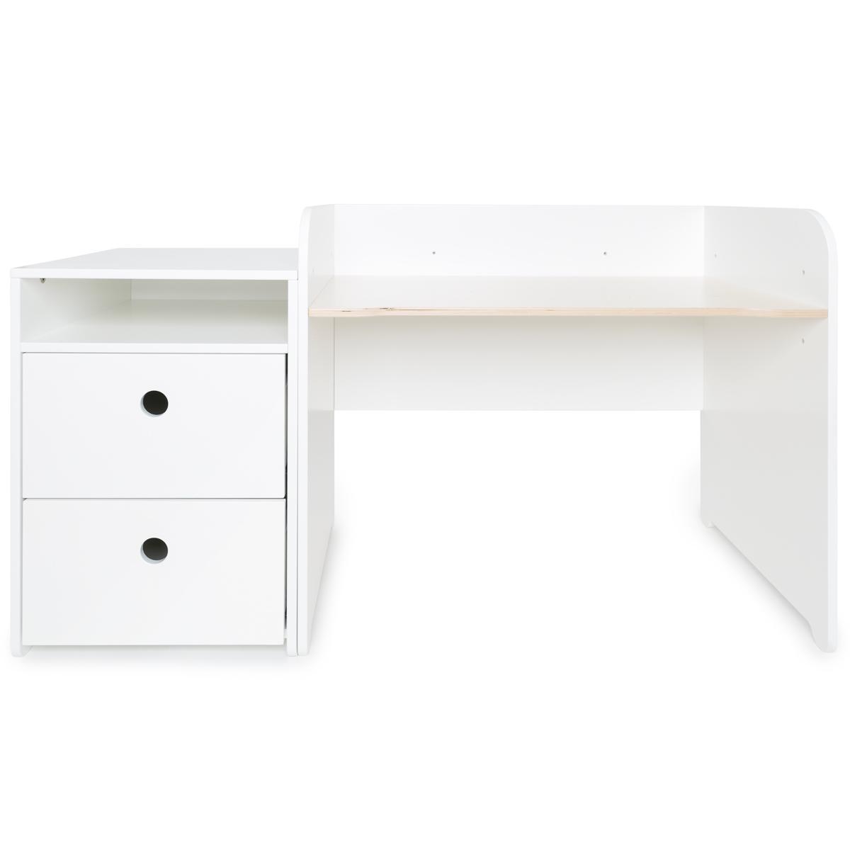 Escritorio evolutivo-mueble pequeño COLORFLEX Abitare Kids cajones white