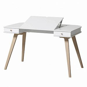 Escritorio-silla 72,6cm WOOD Oliver furniture blanco-roble