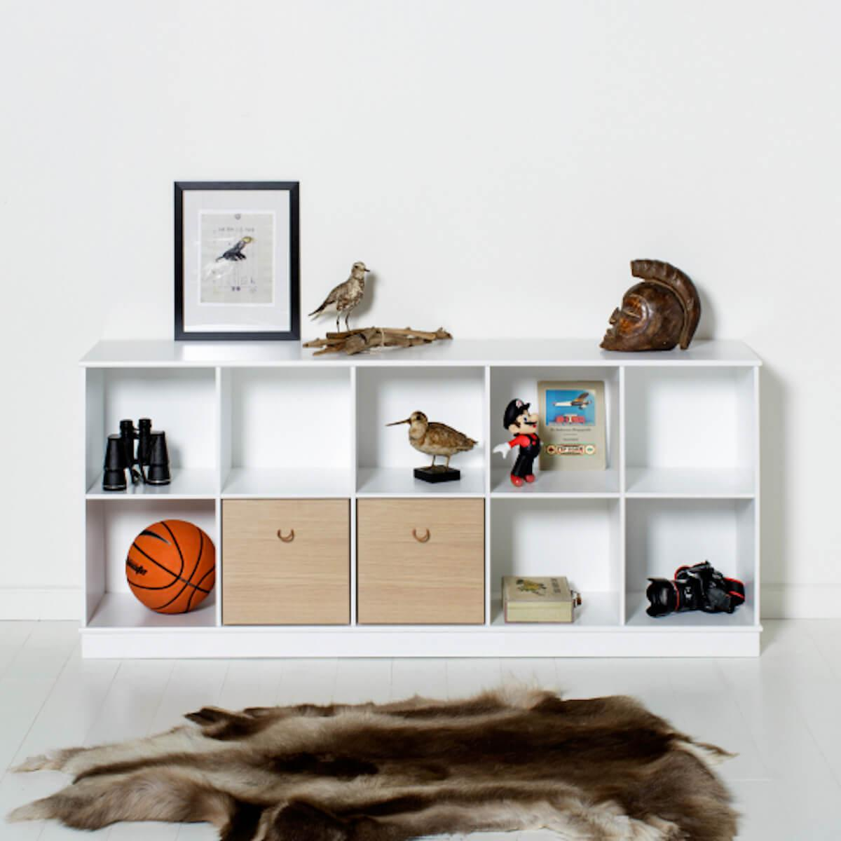 Estantería 174x78cm WOOD Oliver Furniture blanco