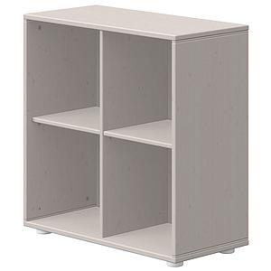 Estantería 4 compartimentos CLASSIC de Flexa grey washed