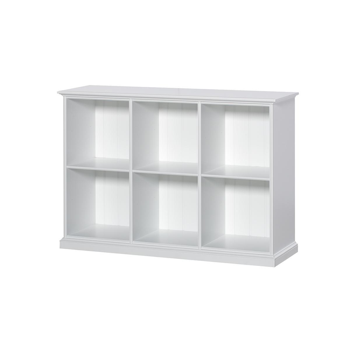 Estantería 6 compartimentos SEASIDE Oliver Furniture blanco