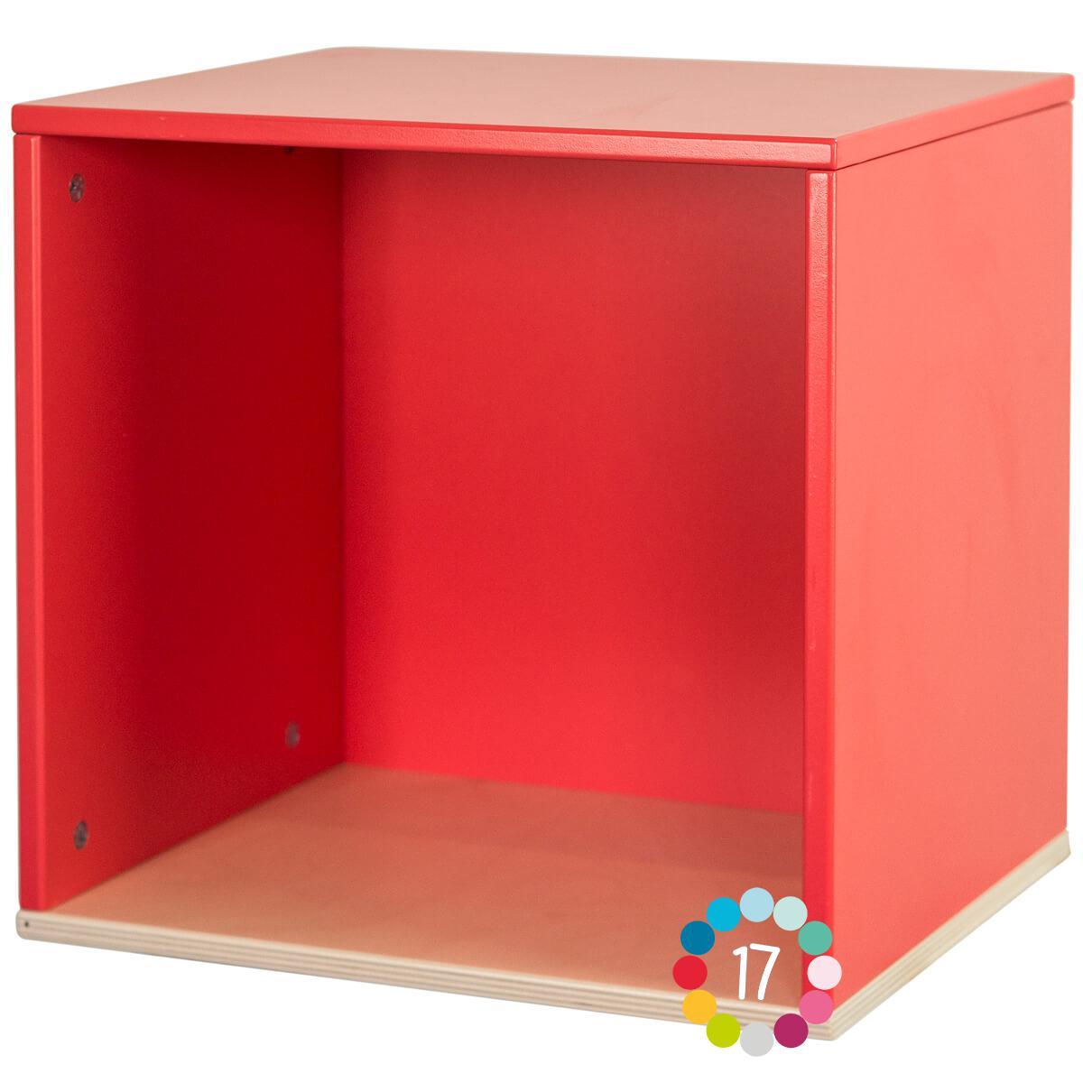 Estantería cubo COLORFLEX true red