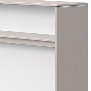 Estantería escritorio-cama 125x135cm CLASSIC Flexa grey washed-blanco