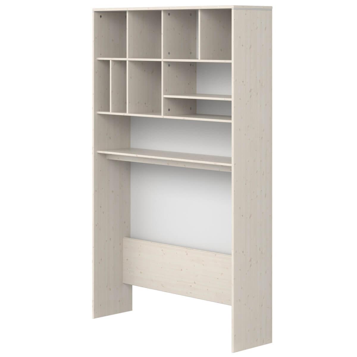 Estantería escritorio-cama 126x203cm CLASSIC de Flexa blanco cal-blanco