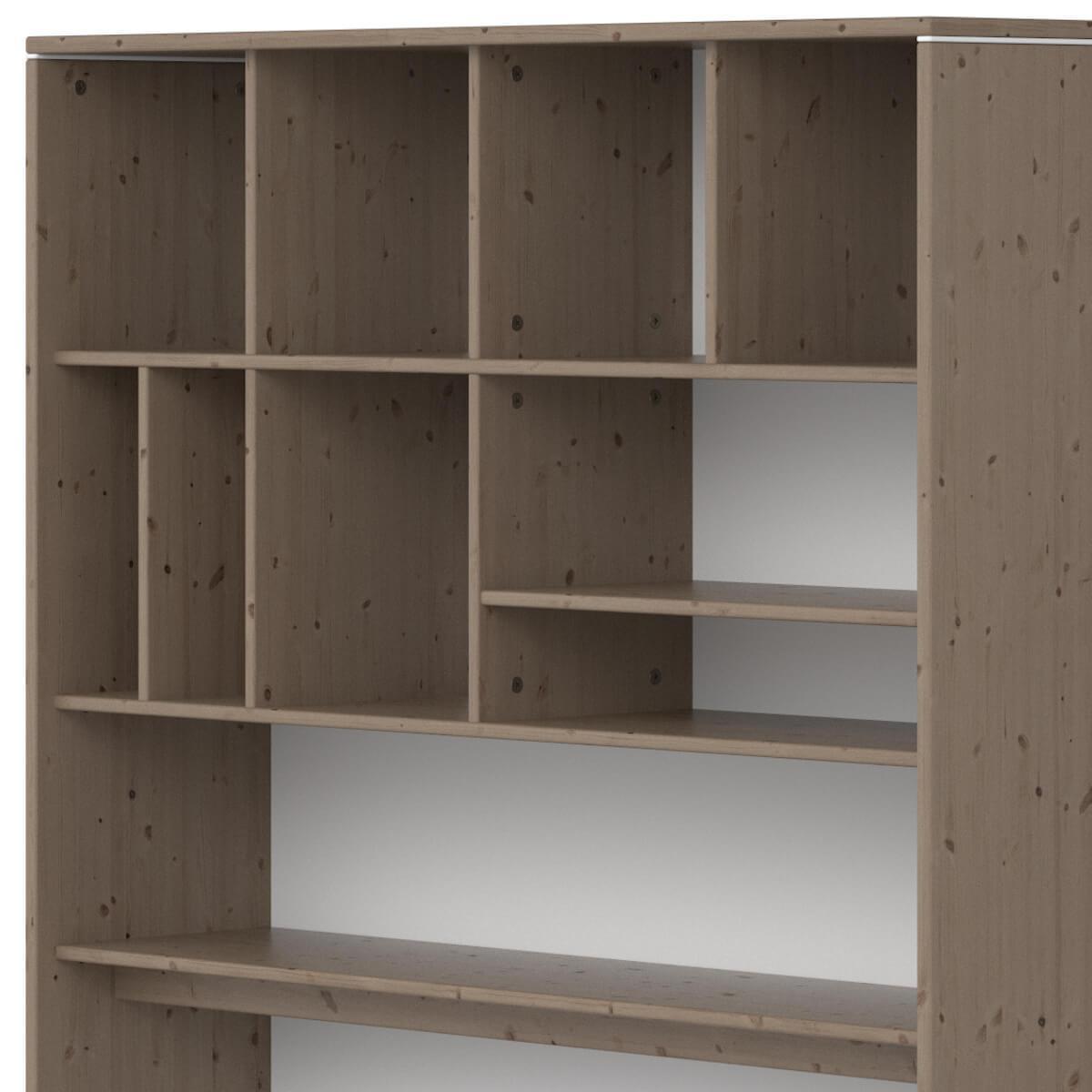Estantería escritorio-cama 126x203cm CLASSIC de Flexa terra-blanco