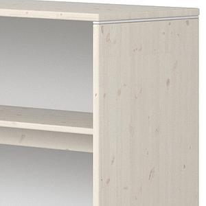 Estantería fijación cama 125x135cm STUDY CLASSIC Flexa blanco cal-blanco