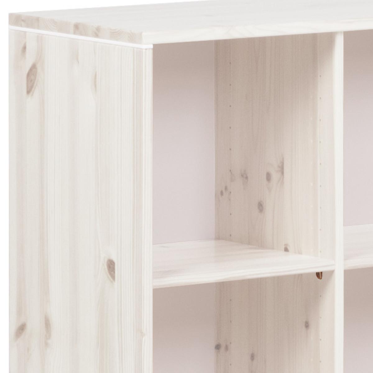 Estantería infantil 4 compartimentos NEW CLASSIC Flexa blanco cal - blanco