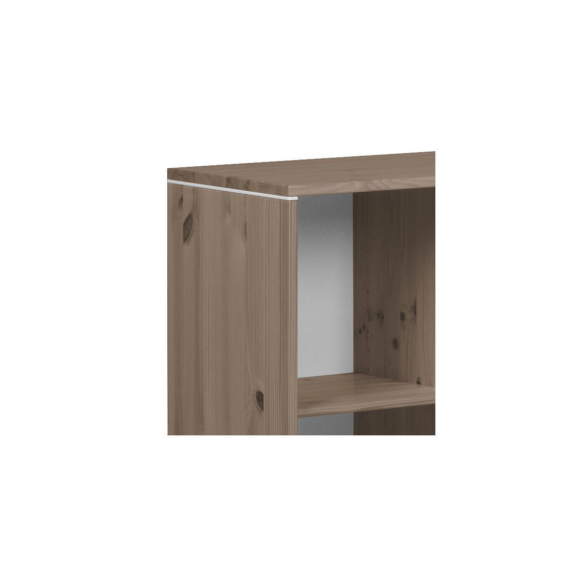 Estantería infantil 4 compartimentos NEW CLASSIC Flexa terra - blanco