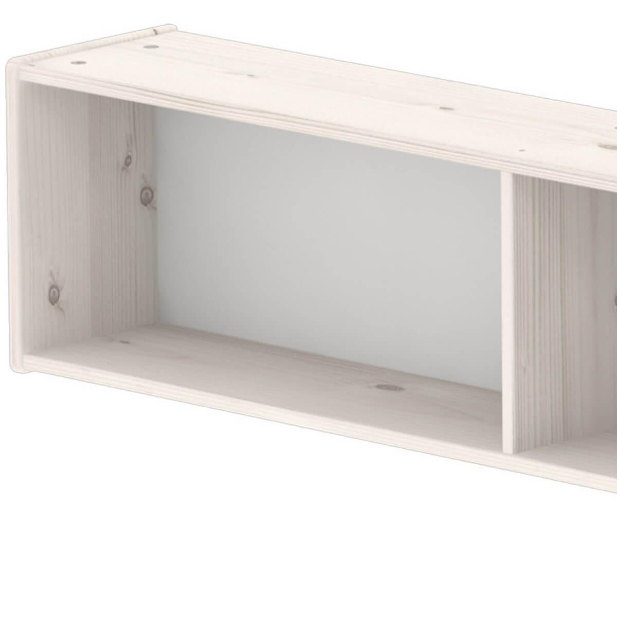 Estantería infantil de pared compartimentos 200 cm CLASSIC Flexa blanco cal