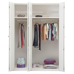 Estructura armario 150cm sin puertas Lifetime blanco